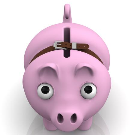 crisis economica: Hucha de cerdo en tiempos de crisis económica Foto de archivo