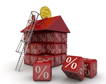 mortgage: The money for the mortgage Stock Photo