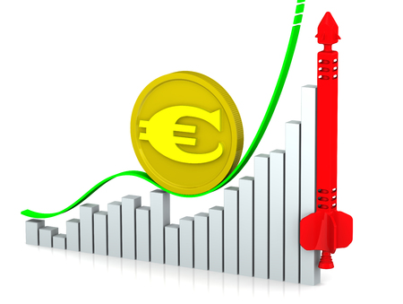 european currency: The growth of the European currency. Concept