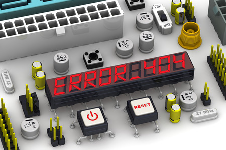 electronics: ERROR 404. The message on the display electronic circuit board