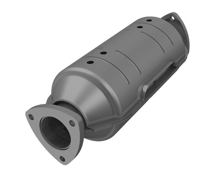 catalytic: Neutralizer of exhaust system of the vehicle. Isolated
