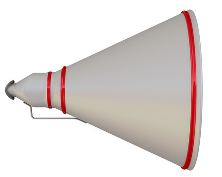 resonator: Three-dimensional illustration of the horn. Isolated