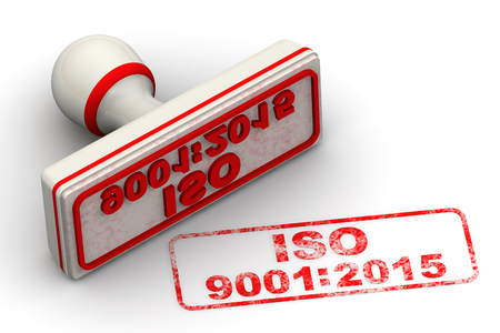 ISO 9001: 2015. Seal and imprint Banque d'images