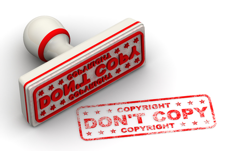 Do not copy - copyright. Seal and imprint Banque d'images