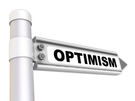 optimismo: Optimismo. La señal de tráfico