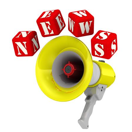 resonator: Megaphone and the word NEWS