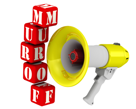 resonator: Megaphone and the word FORUM Stock Photo