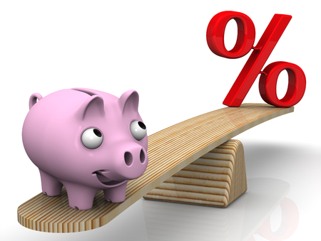 and is favorable: Favorable interest rates. Financial concept Stock Photo