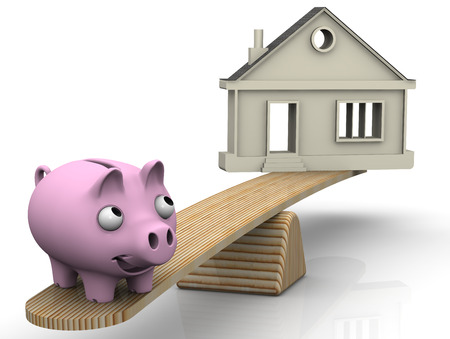 protruding eyes: Bargain property. Financial concept Stock Photo