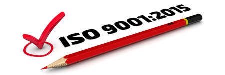 ISO 9001: 2015 Mark Standard-Bild - 48543124