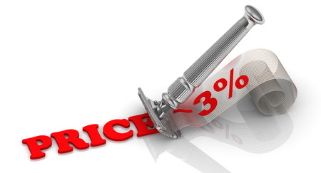 profiting: Discount of 3. Financial concept Stock Photo