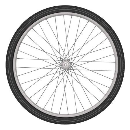 Fahrrad-Rad auf einem weißen Hintergrund Standard-Bild - 48821936