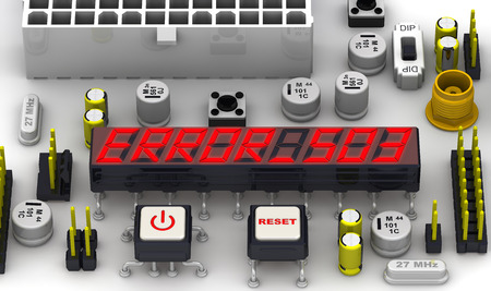 unavailable: ERROR 503 Service unavailable. The message on the display of the electronic circuit board