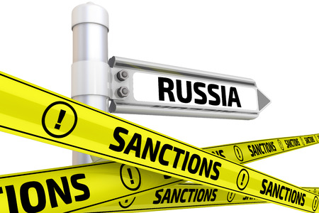 Sanktionen gegen Russland. Konzept Standard-Bild - 49729606