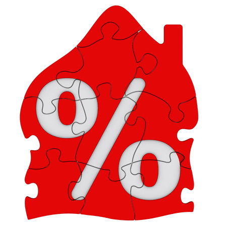 mortgage: Interest on the mortgage Concept Stock Photo