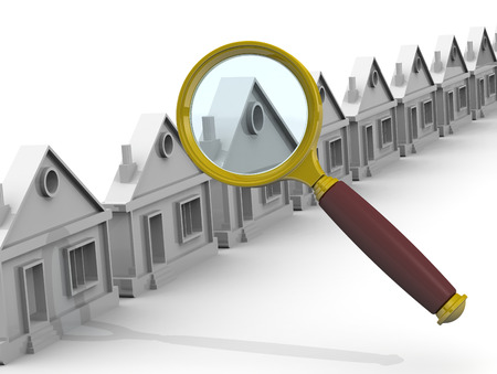 apartment search: Search and purchase real estate Concept