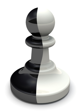 chessmen: Two-faced pawn. The pawn is a traitor