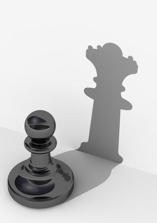 Verpfänden mit hohem Selbstwertgefühl. Schachfigur Standard-Bild - 50886120