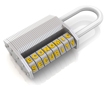 combination: Economic security. Combination padlock