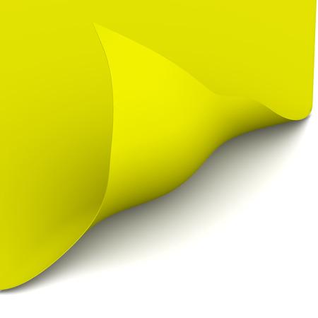bent: Yellow sheet has a bent the corner