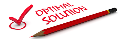 optimal: Optimal solution. The red mark