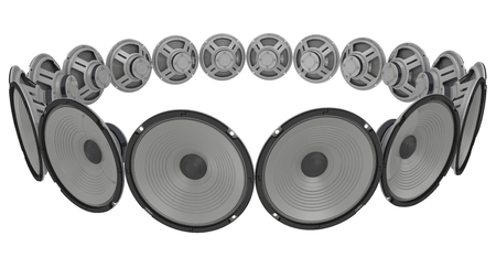 emitter: Loudspeakers circumferentially spaced Stock Photo