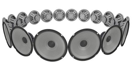 Loudspeakers circumferentially spaced Stok Fotoğraf