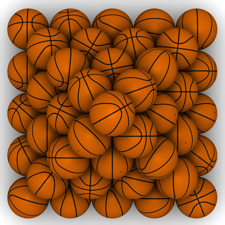 basketballs: Basketballs stacked pyramid