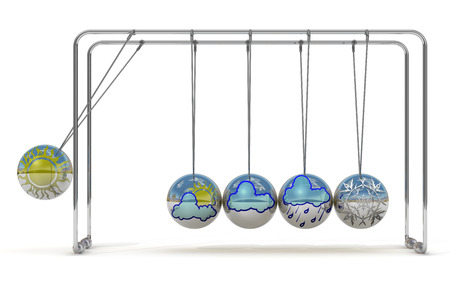 Weather forecast and Newtons cradle