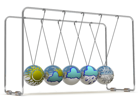 cradle: Weather forecast and Newtons cradle