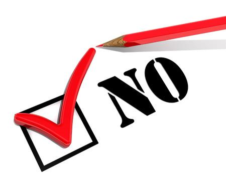 No. Negative choice Stock Photo