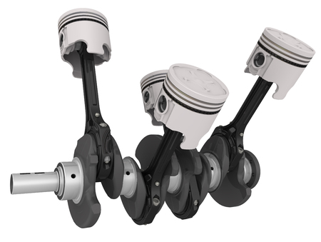 crankshaft: Engine pistons and crankshaft assembly