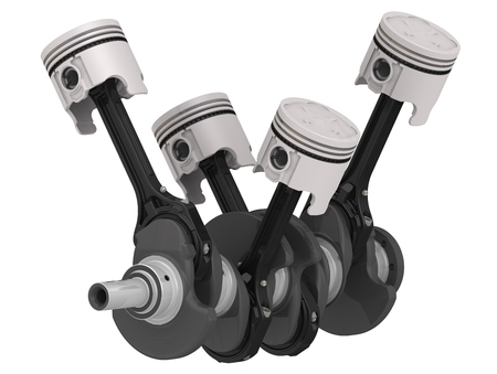 connecting rod: Engine pistons and crankshaft assembly