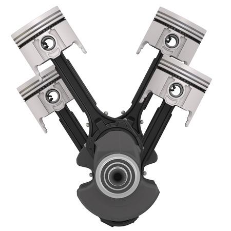 pitman: Engine pistons and crankshaft assembly