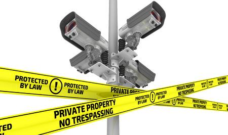 no trespassing: PROPIEDAD PRIVADA. PROHIBIDO EL PASO. Protegido por la ley. El concepto