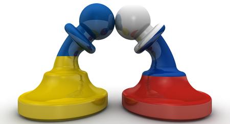 confrontation: The confrontation of Russia and Ukraine. Concept