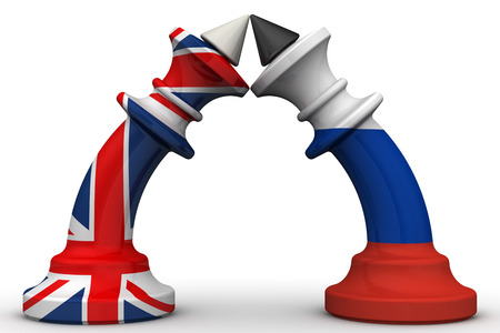 enmity: The confrontation between the Russian Federation and the United Kingdom Stock Photo