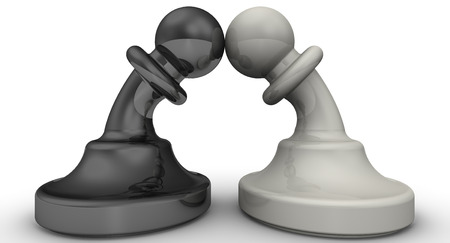 The confrontation of pawns
