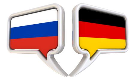 the federation: The dialog between the Russian Federation and Germany Stock Photo