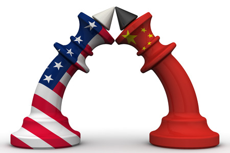 enmity: The confrontation of the China and the United States of America Stock Photo