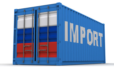 the federation: Imports of the Russian Federation Stock Photo