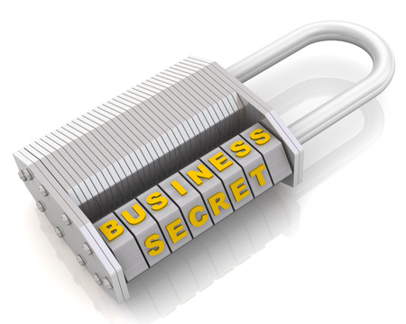 combination: Business secret. Combination padlock