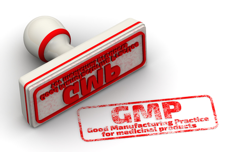 GMP. Good Manufacturing Practice for medicinal products. Seal and imprint