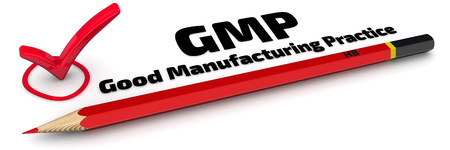 GMP. Good Manufacturing Practice. Die Note Standard-Bild - 56268295