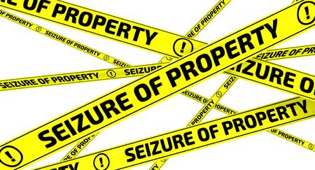 Inbesitznahme von Eigentum. Gelbe Warnbänder Standard-Bild - 56268467