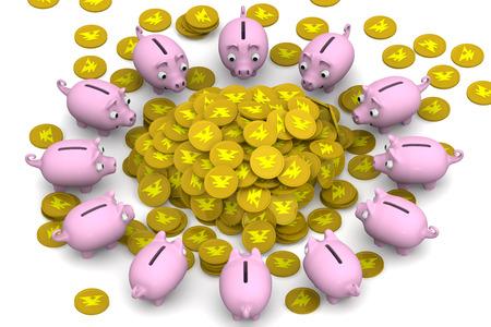 hoard: Financial success. Concept