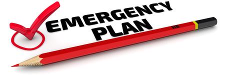 Notfallplan. Die Note Standard-Bild - 56268511