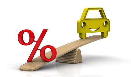 car loan: The interest rate on the car loan. Concept Stock Photo