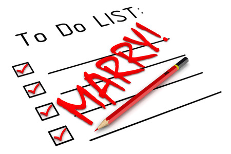 marry: Marry! To do list Stock Photo