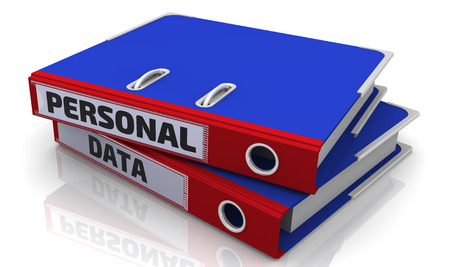 Personal data. Office folder with inscription